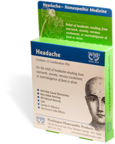 Headache Combination Homeopathic Blister Pack